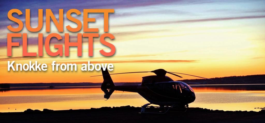 Helikoptervlucht Knokke Zonsondergang