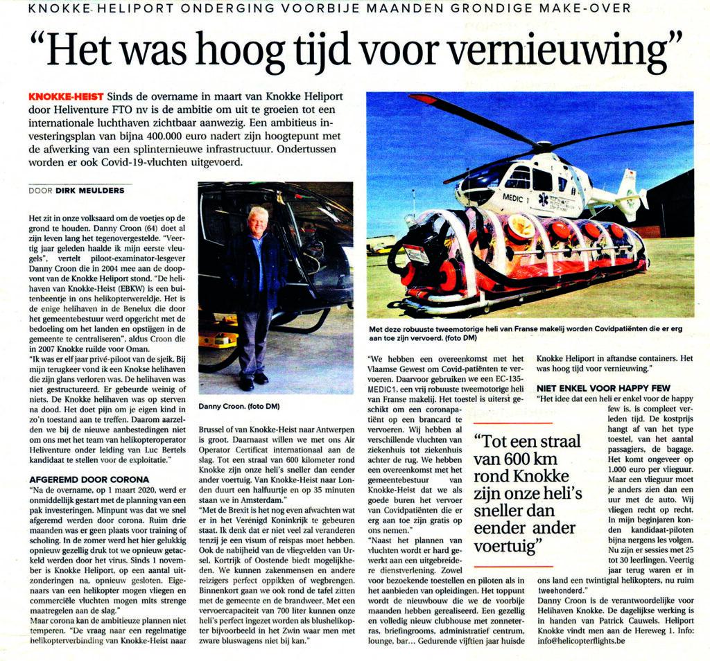 KrantWestVlaanderen - Knokke Heliport